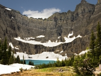 Iceberg Lake in August