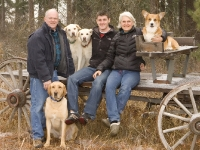 My family portrait on our buckboard wagon.